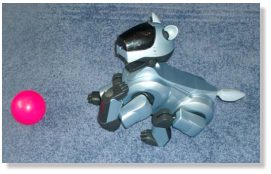 Das ist mein Aibo (ERS-210A). Er heißt Snoopy.
